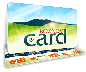 Kartu hosta Rožnov card